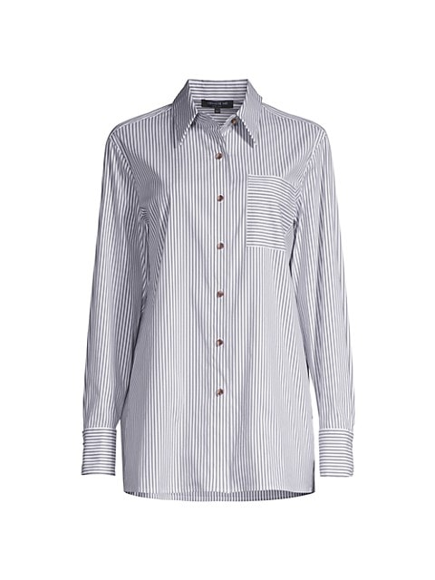 Greyson Striped Button-Up Blouse