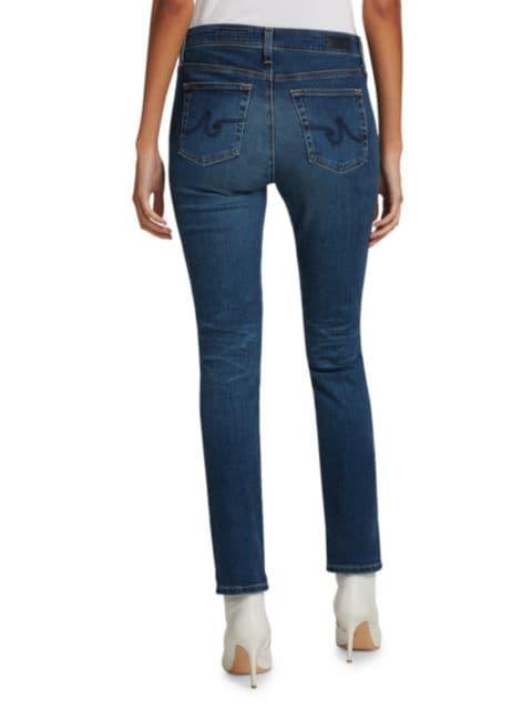 AG Jeans Mari High-Rise Slim Straight Jeans   SaksFifthAvenue