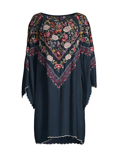 Maryam Silk Embroidered Dress