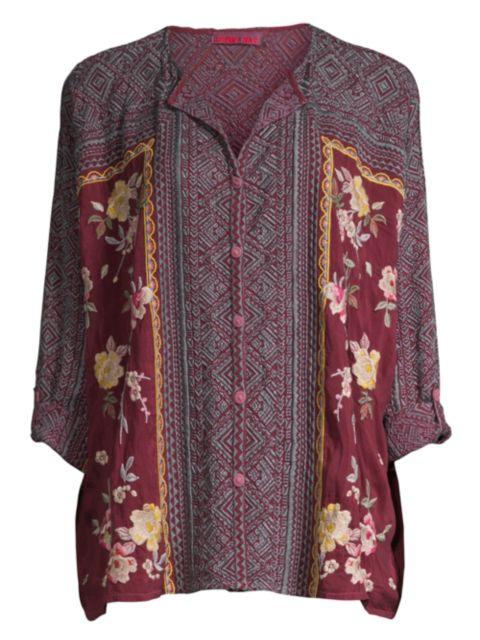 Johnny Was Rumi Printed Shirt   SaksFifthAvenue