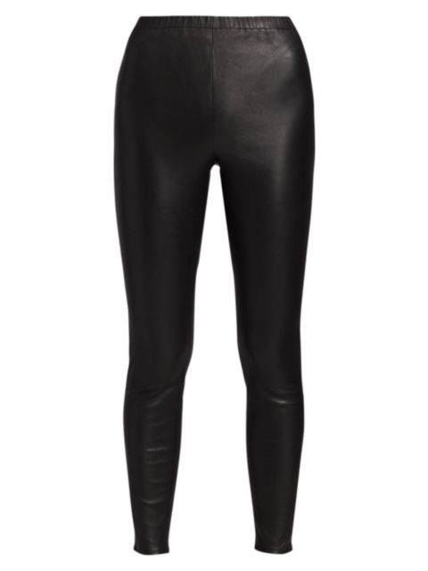 Jonathan Simkhai Standard Vegan Leather Leggings   SaksFifthAvenue