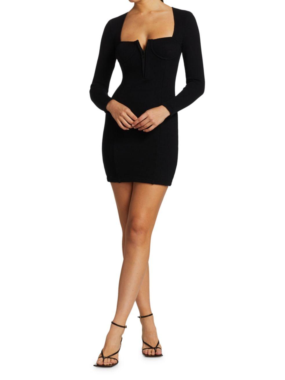 Jonathan Simkhai Standard Ribbed Bustier Dress   SaksFifthAvenue