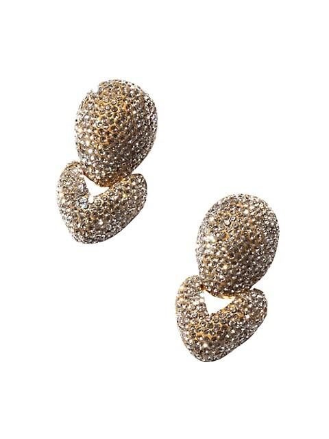 Crystal Hinged Drop Earrings