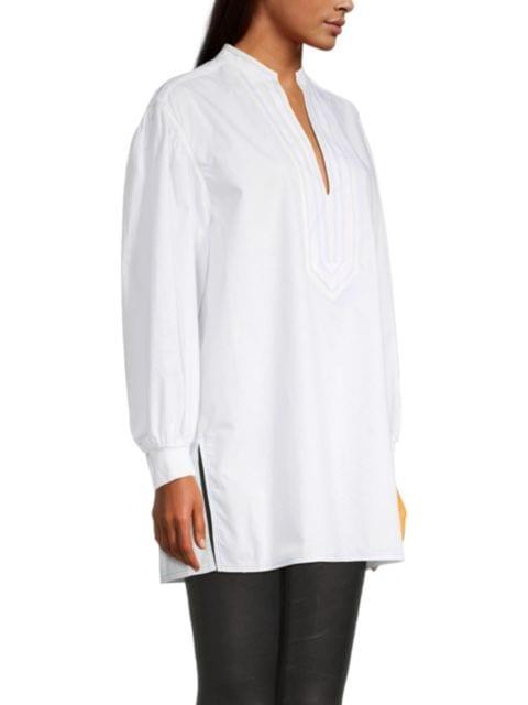 Tory Burch Cotton Puff-Sleeve Tunic   SaksFifthAvenue