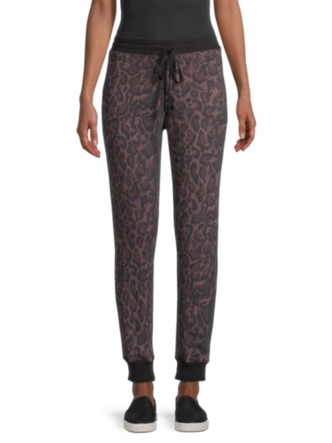 Johnny Was Leopard French Terry Joggers   SaksFifthAvenue