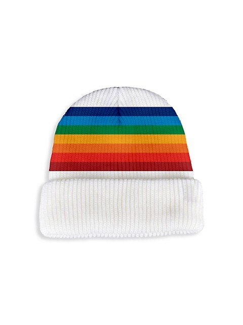 Rainbow Stripe Knit Beanie