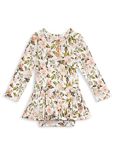 Baby Girl's Katherine Long-Sleeve Twill Bodysuit