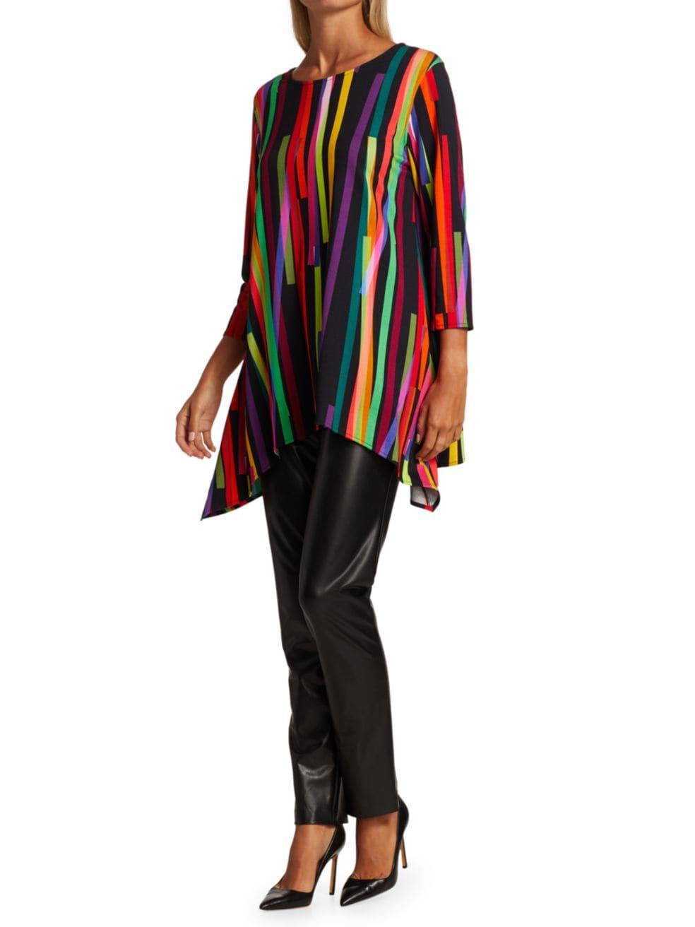Caroline Rose Living Color Stretch Knit Tunic   SaksFifthAvenue