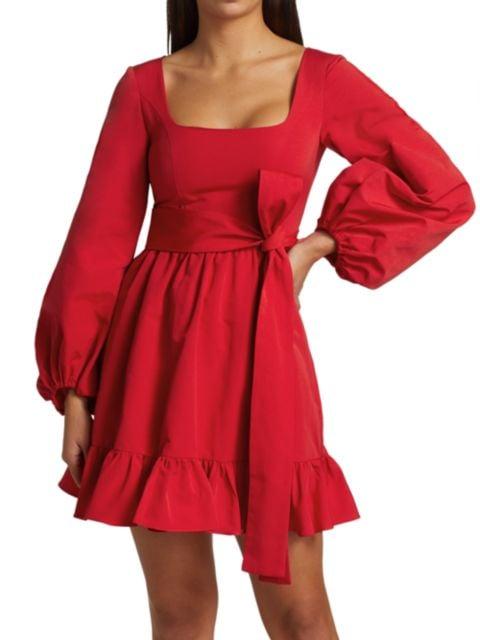 Staud Seth Squareneck Mini Dress | SaksFifthAvenue