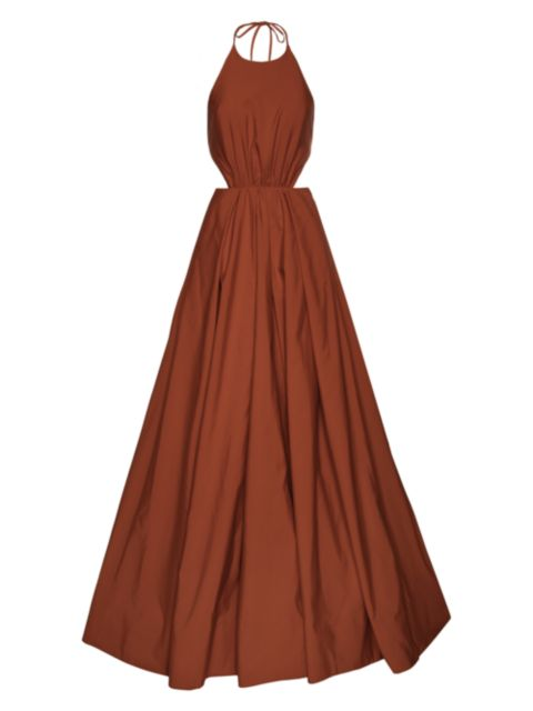 Staud Georgia Halterneck Dress | SaksFifthAvenue
