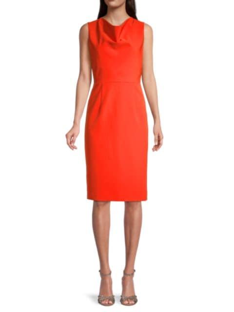Milly Cady Cowlneck Dress   SaksFifthAvenue