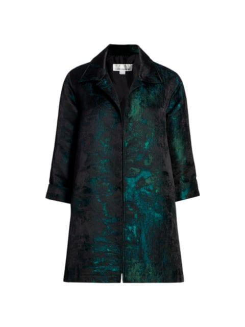 Caroline Rose Enchanted Forest Stretch Velvet Button-Up Shirt   SaksFifthAvenue