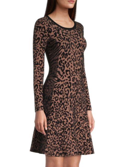 Milly Leopard-Print Knit Dress   SaksFifthAvenue