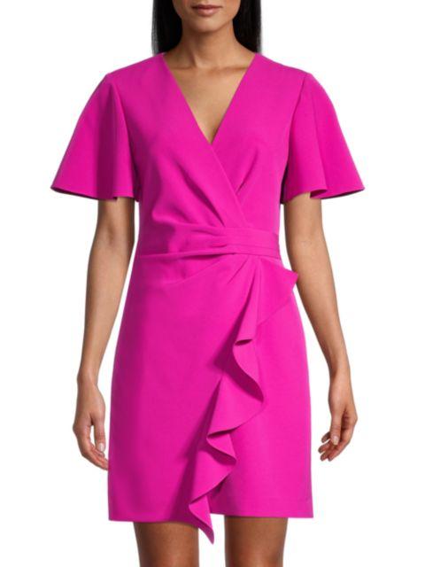 Milly Greta Ruffle Mini Dress   SaksFifthAvenue