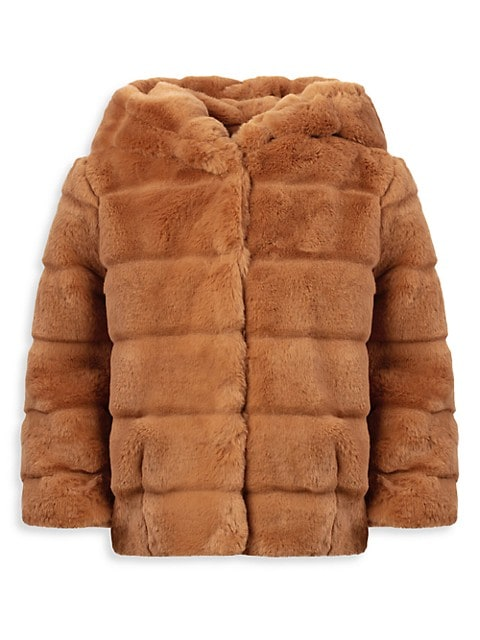 Little Girl's & Girl's Goldie Kids Faux Fur Coat