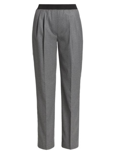 Loulou Studio Palazzu Pleated Wool-Blend Pull-On Pants   SaksFifthAvenue