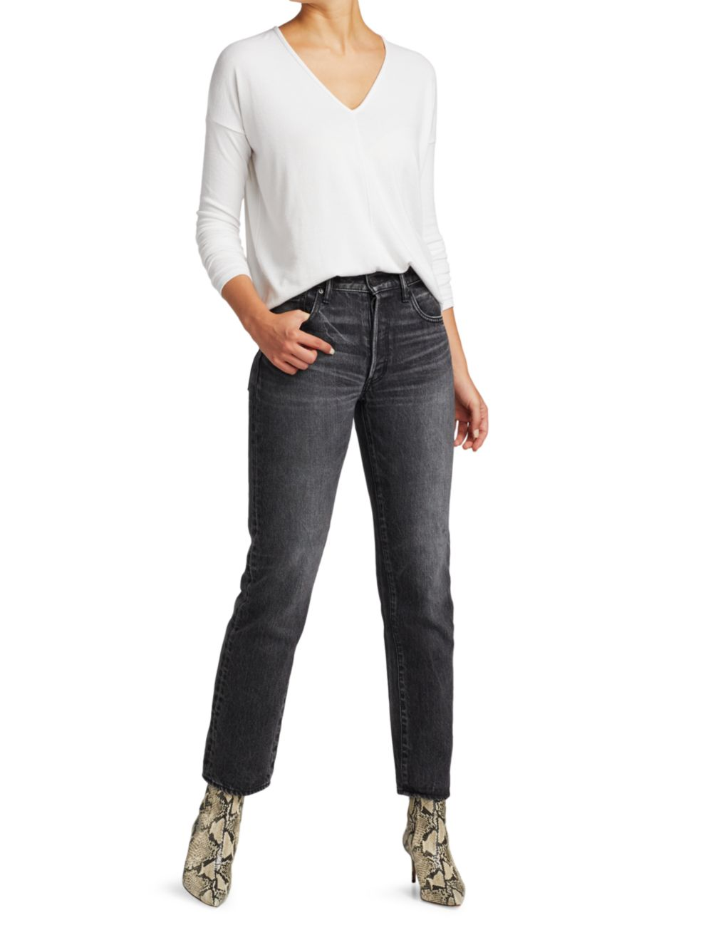 Moussy Vintage Boothbay High-Rise Straight Jeans | SaksFifthAvenue
