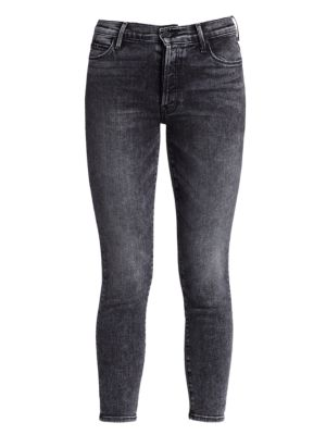 Mother Cottons The Stunner High-Rise Ankle Skinny Jeans