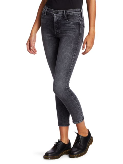 Mother The Stunner High-Rise Ankle Skinny Jeans | SaksFifthAvenue