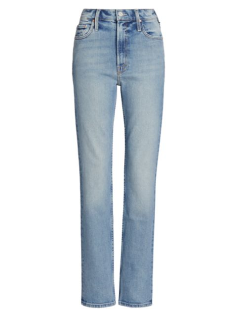 Mother Rider High-Rise Straight Jeans   SaksFifthAvenue