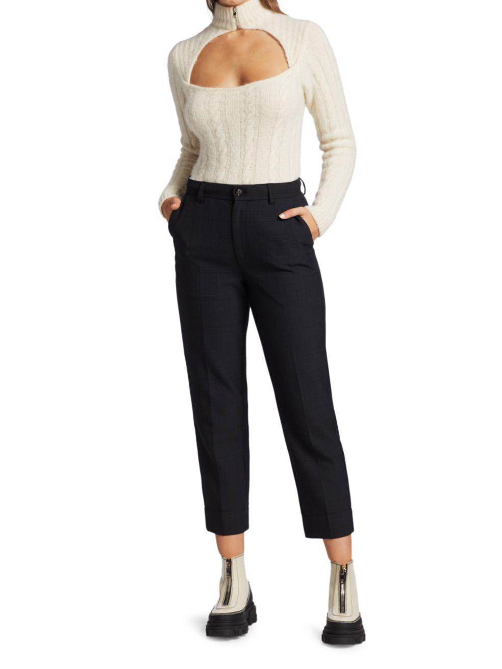 Ganni Alpaca & Wool-Blend Cutout Sweater | SaksFifthAvenue