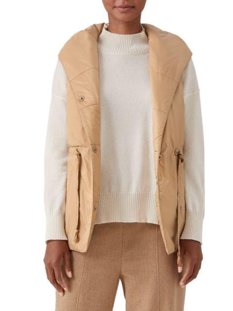 Eileen Fisher Hooded Shawl Collar Vest | SaksFifthAvenue
