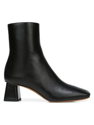 Vince Leathers Koren Square-Toe Leather Ankle Boots