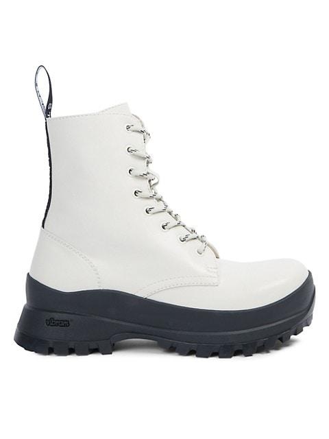 Stella McCartney Trace Lug-Sole Combat Boots