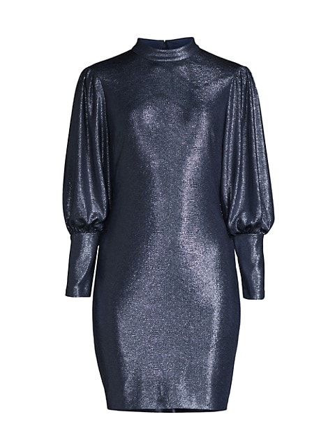 Mockneck Long-Sleeve Dress