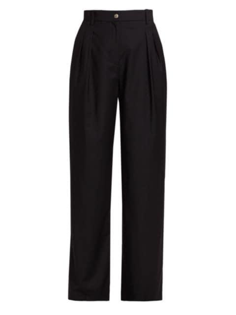 Loulou Studio Sbiru Wool Straight-Leg Pants   SaksFifthAvenue