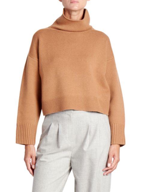 Loulou Studio Stintino Funnelneck Wool & Cashmere Knit Sweater | SaksFifthAvenue