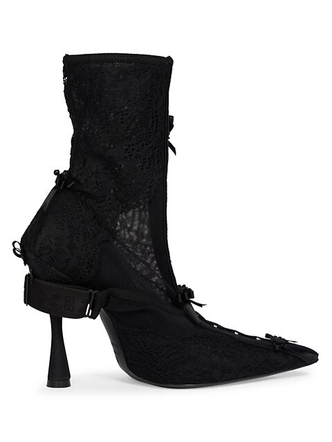Lingerie Knife Lace Ankle Boots