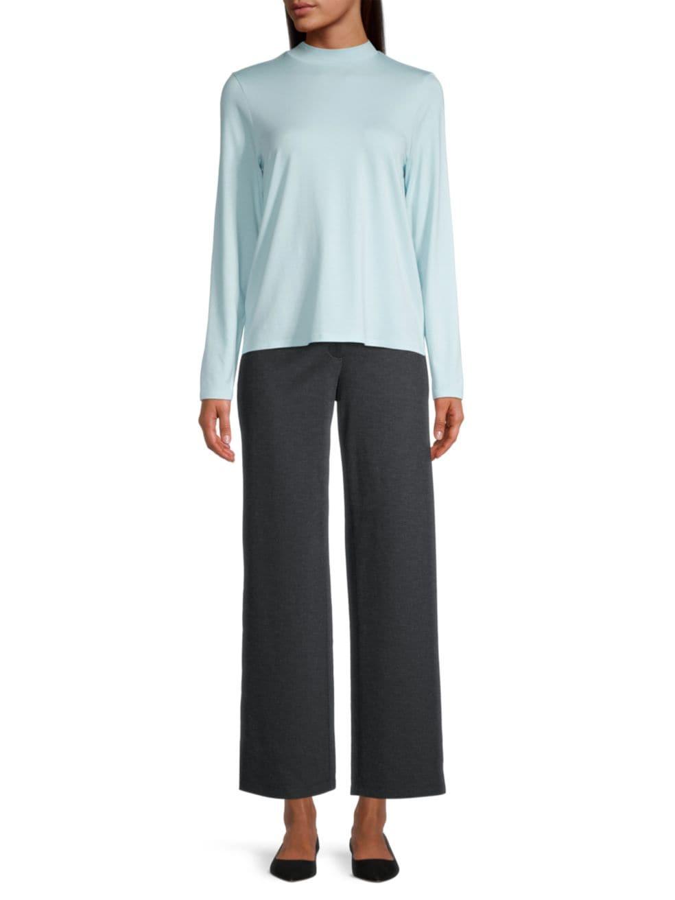 Eileen Fisher Straight Flare Pants   SaksFifthAvenue