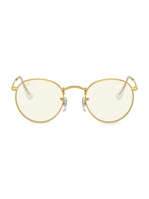 RB344750 50MM Round Blue Light/Photochromic Sunglasses