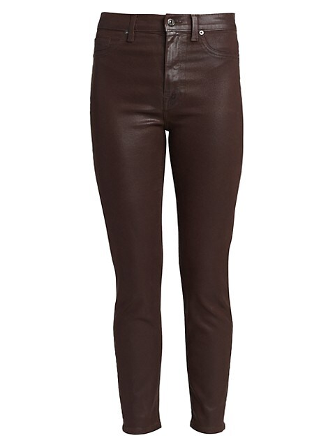 High-Rise Coated Ankle Skinny Jeans