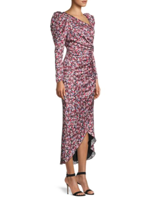 FAME AND PARTNERS The Isla Puff-Sleeve Dress   SaksFifthAvenue