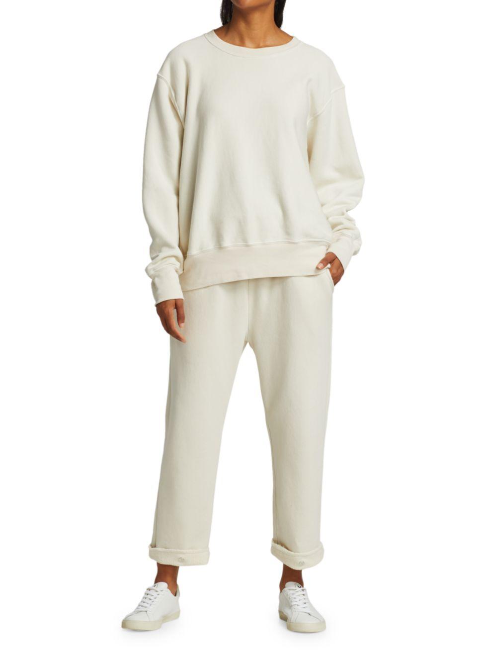 Les Tien Crop Crewneck Sweatshirt | SaksFifthAvenue