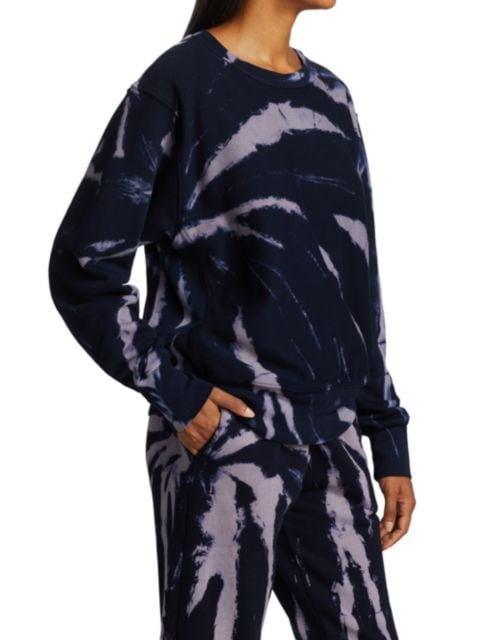 Les Tien Tie-Dye Cropped Crewneck Sweatshirt   SaksFifthAvenue