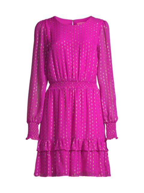 Lilly Pulitzer Dotti Lurex Dress   SaksFifthAvenue
