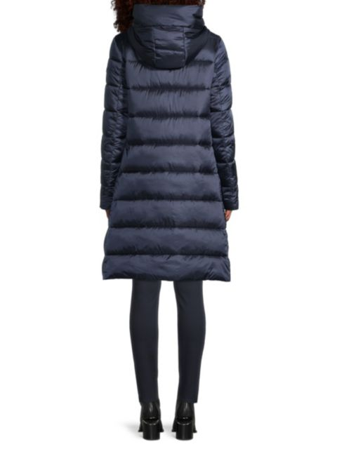 Save the Duck Icons Iris Extra-Long Quilted Hooded Coat   SaksFifthAvenue