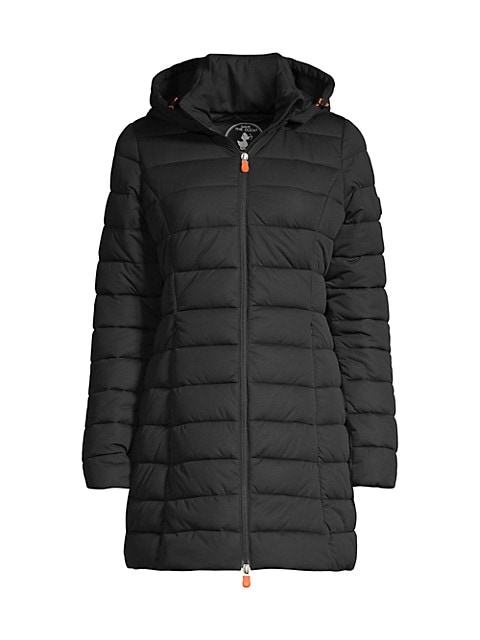 Seal Stretch Hooded Coat