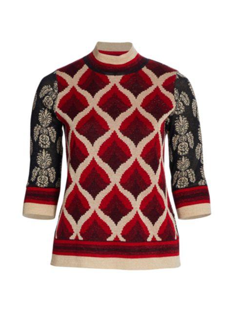 Marina Rinaldi, Plus Size Audrey Jacquard Sweater   SaksFifthAvenue