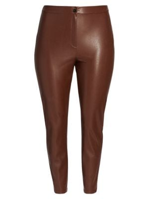 Marina Rinaldi Stretch Faux Leather Pants