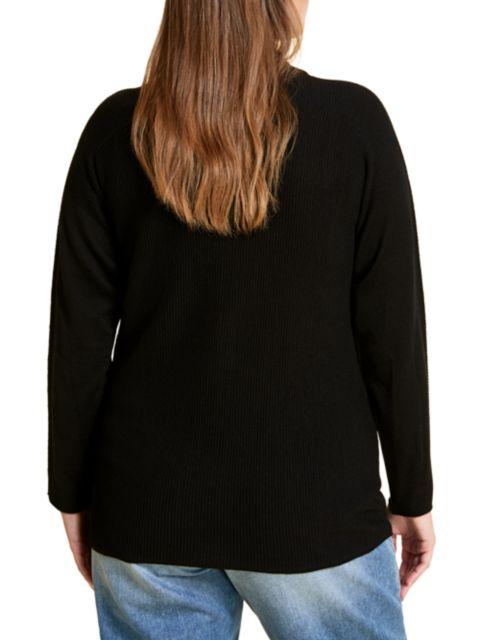 Marina Rinaldi, Plus Size Amelia Long-Sleeve Polo Shirt | SaksFifthAvenue