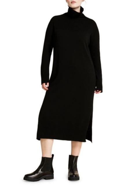 Marina Rinaldi, Plus Size Marina Sport Galena Wool & Cashmere-Blend Turtleneck Sweater Dress | SaksFifthAvenue