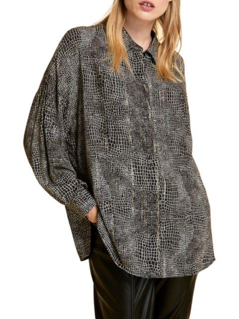Marina Rinaldi, Plus Size Marina Sport Bantu Print Shirt | SaksFifthAvenue