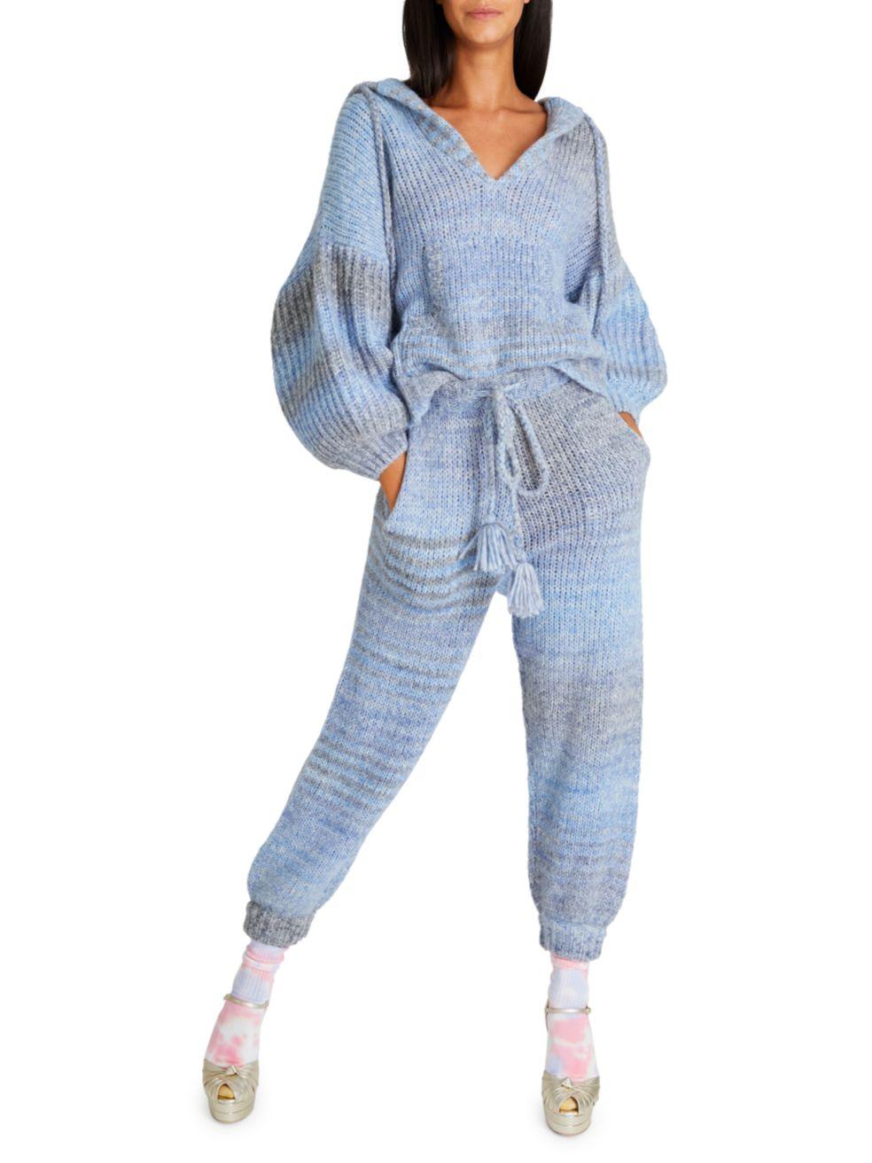 LoveShackFancy Blossom Merino Wool Knit Joggers | SaksFifthAvenue
