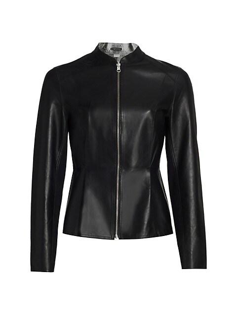 Rachel Reversible Metallic Leather Jacket