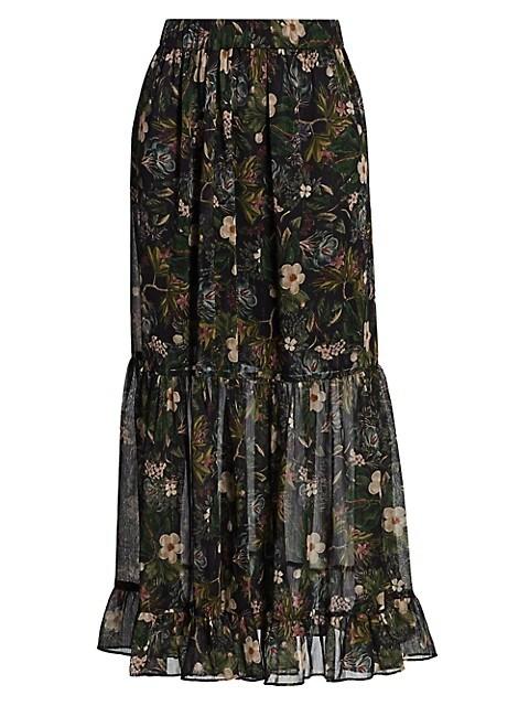 Selena Floral Midi Skirt