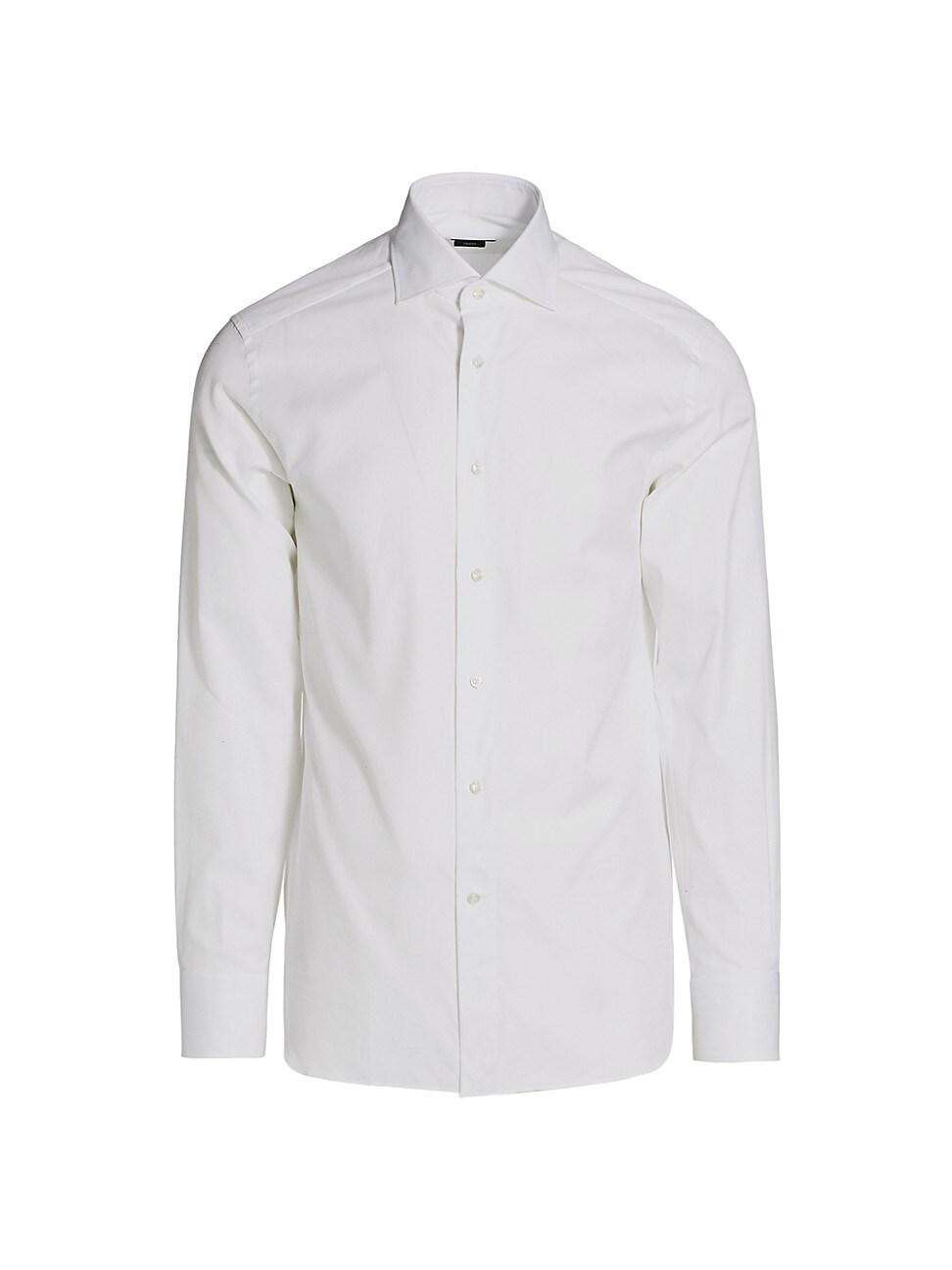 Ermenegildo Zegna Trofeo Textured Sport Shirt In White